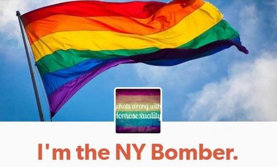 """Tuyên bố nhận trách nhiệm trên trang mạng xã hội Tumblr có nội dung: """"Tôi chính là kẻ đánh bom New York"""". Ảnh: TUMBLR"""