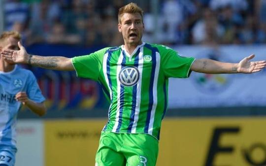 Bedtner trong màu áo Wolfsburg