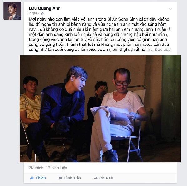 Công bố những hình ảnh cuối cùng của Minh Thuận trên phim trường - Ảnh 14.