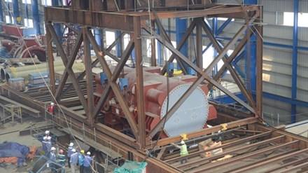 Công nhân PVC xây dựng nhà máy nhiệt điện Thái Bình 2.