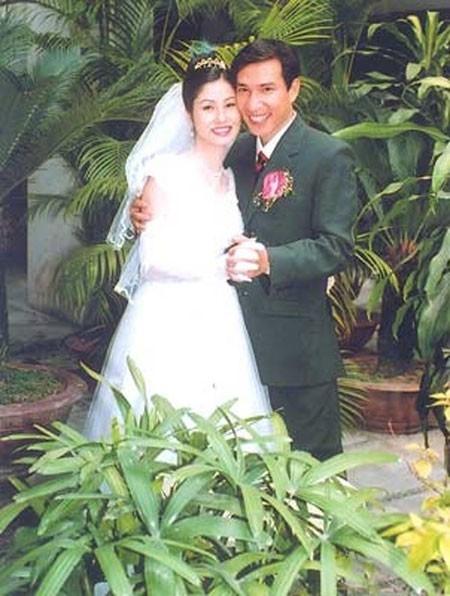 Bức ảnh kỷ niệm của vợ chồng Quang Thắng. Ảnh: TL.