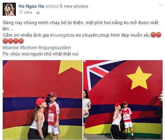 Ho Ngoc Ha khen ngoi Cuong Do La tren trang ca nhan hinh anh 1