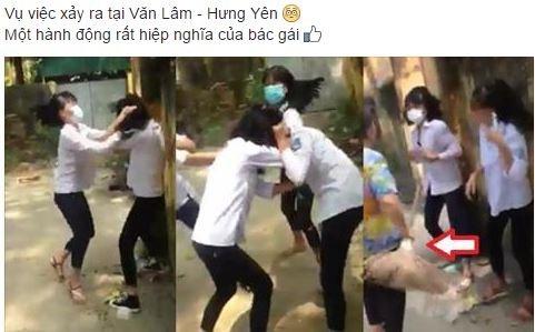 Nhom nu sinh Hung Yen chan duong danh hoi dong ban hinh anh 1