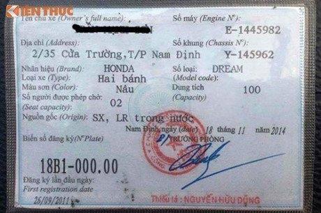 Honda Super Dream, 150 triệu, chiếc xe, biển số, 'ngũ quý 0', siêu xe, xe sang, xe máy, trăm triệu