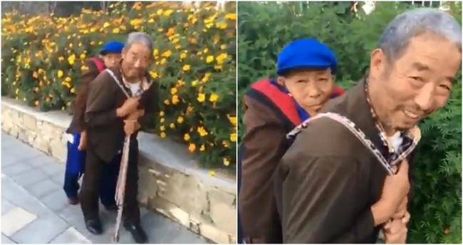 Bạn sẽ thấy hạnh phúc chẳng ở đâu xa khi chứng kiến cụ ông địu người vợ ốm yếu đi dạo phố mỗi ngày - Ảnh 4.