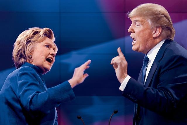 Ứng viên tổng thống đảng Dân chủ Hillary Clinton (trái) và ứng viên Cộng hòa Donald Trump. (Ảnh: Getty)