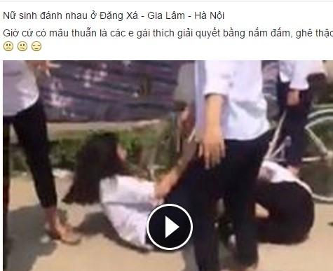 Nu sinh Ha Noi goi hoi danh ban vi ghen tuong hinh anh 1