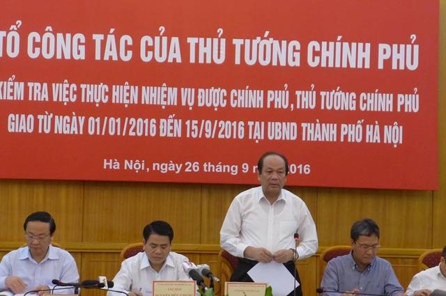 Chủ nhiệm Văn phòng Chính phủ Mai Tiến Dũng cho biết, Thủ tướng nhắc thành phố Hà Nội vấn đề an toàn giao thông.