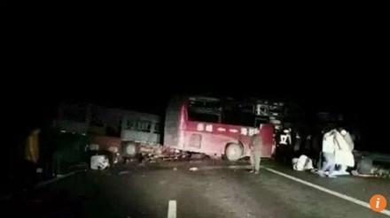 Hiện trường vụ tai nạn kinh hoàng