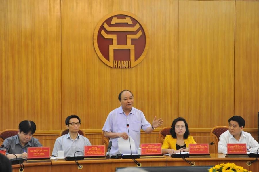 Thủ tướng Nguyễn Xuân Phúc, cắt cỏ, an toàn vệ sinh thực phẩm, lò mổ, Hà Nội