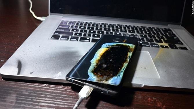 1 ngày sau khi được đổi mới, Galaxy Note 7 lại phát nổ