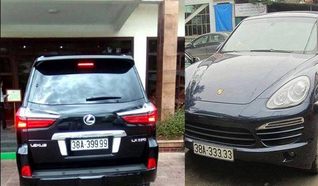 Những tấm biển siêu đẹp của các xe sang. (Ảnh: Facebook Xe Sang Ha Tinh).