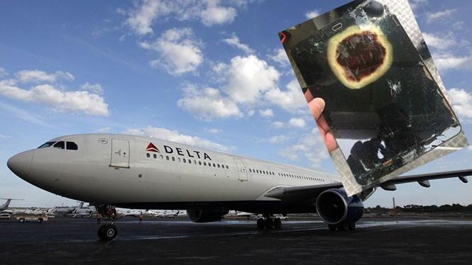 Hãng hàng không Delta vừa gặp sự cố vì chiếc máy tính bảng phát nổ. /// Ảnh: Reuters