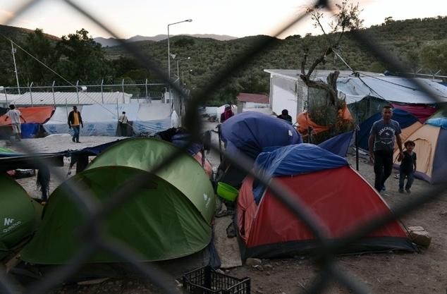 Trại tị nạn Moira. Ảnh: Daily Mail