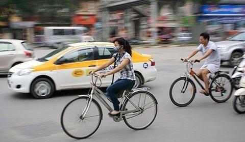 đi xe đạp, giảm ùn tắc, Hà Nội, ùn tắc hà nội, tắc đường hà nội