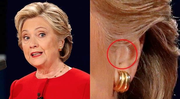 Nghi van ba Clinton gian lan trong buoi tranh luan hinh anh 1