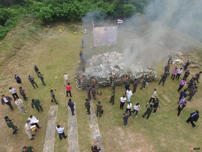 Thái Lan: Điều động học sinh đi đốt 8 tấn cần sa - Ảnh 3.