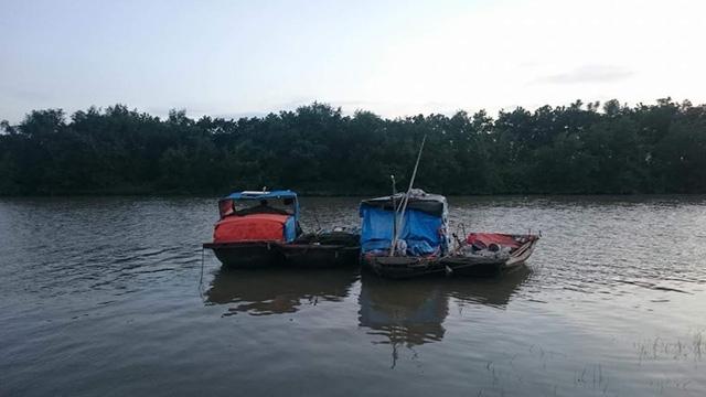 Khúc sông nơi Dũng đào tẩu để qua địa phận Hải Phòng