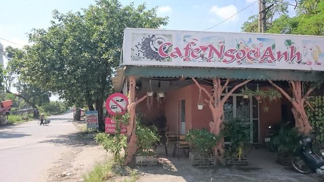 Quán cafe nơi Dũng bị lực lượng phá án bắt giữ