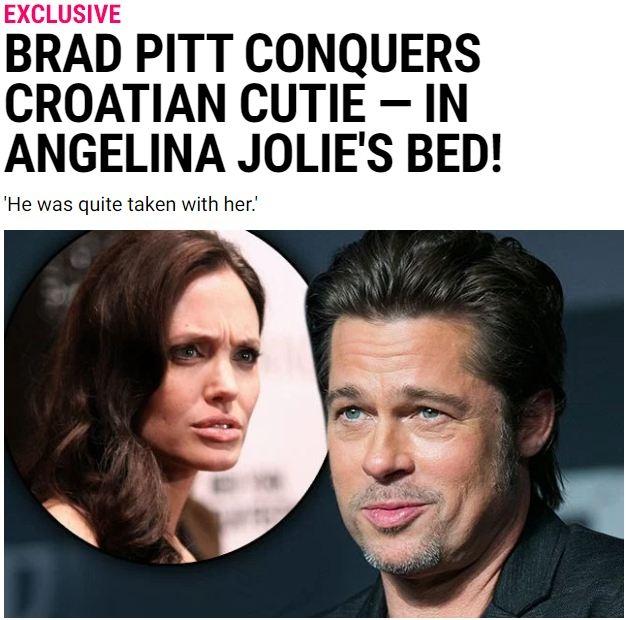Rộ tin Brad Pitt ngủ với người khác trên giường Angelina Jolie và đánh đập vợ - Ảnh 1.