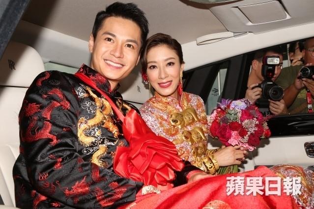 Hoa dan TVB Duong Di deo vang triu tay trong ngay cuoi hinh anh 8