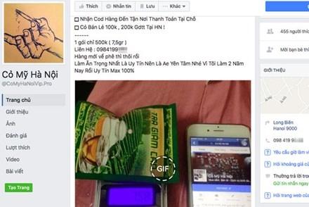 """""""Cỏ Mỹ"""" được chào bán công khai trên Facebook với những chỉ dẫn hết sức cụ thể.Ảnh: L.N"""
