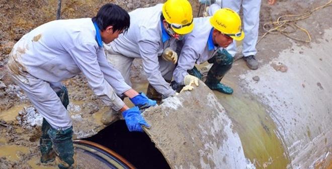 Đường ống nước sạch sông Đà lại gặp sự cố lần thứ 20