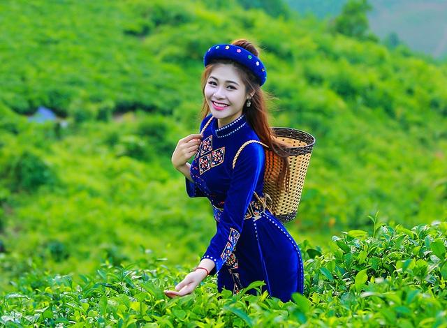 Đây là những hình ảnh của Ái Thơ trên đồi chè Thái Nguyên. Thơ tham gia hành trình này cùng với các thí sinh khác để quảng bá cho cuộc thi.
