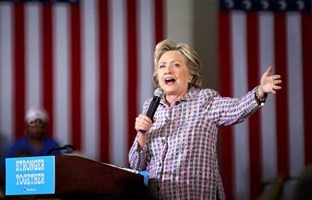 Cựu Ngoại trưởng Mỹ Hillary Clinton. Ảnh: EPA
