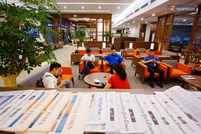 Cận cảnh phòng khách hạng thương gia của Vietnam Airlines ở sân bay Nội Bài - Ảnh 7.
