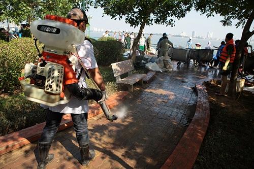 Cận cảnh tiêu hủy 200 tấn cá chết ở Hồ Tây - 4