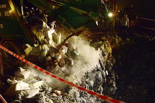 Cận cảnh tiêu hủy 200 tấn cá chết ở Hồ Tây - 8