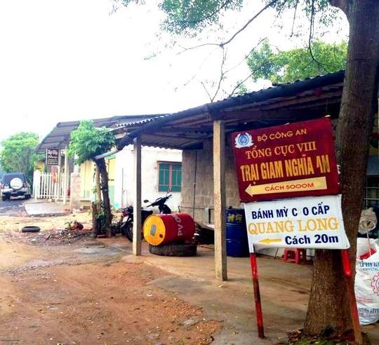 Trại giam Nghĩa An, nơi xảy ra vụ việc