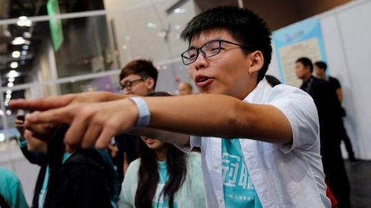 Thủ lĩnh sinh viên Hồng Kông Joshua Wong. Ảnh: Reuters