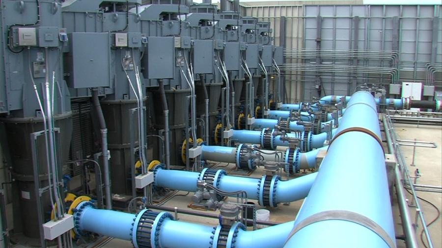 Hệ thống khử muối nước biển. Ảnh minh họa: KPBS