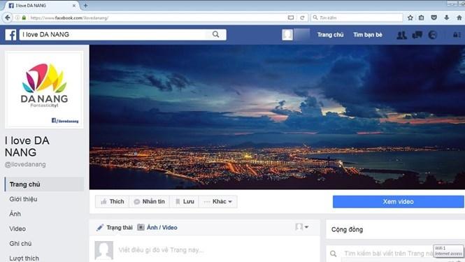 Ảnh chụp màn hình trang tin điện tử cá nhân trên mạng xã hội Facebook có tên I love Da Nang