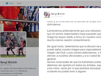 Lộ clip sex, hai cầu thủ Eibar phải công khai xin lỗi trên mạng xã hội