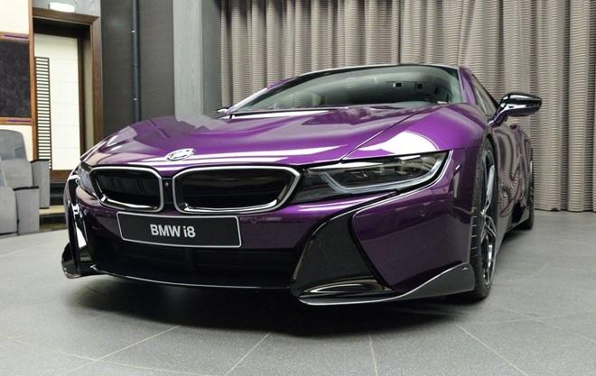BMW i8 do chinh hang mau doc tai Abu Dhabi hinh anh 5