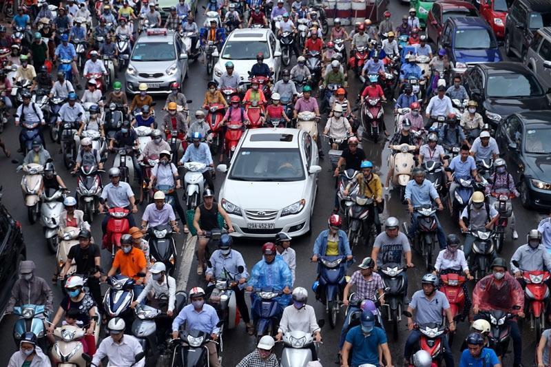cấm xe máy, hạn chế xe máy, khó cấm xe máy