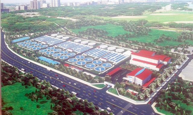 Nhà máy xử lý nước thải với công suất 270.000 m3/ngày đêm