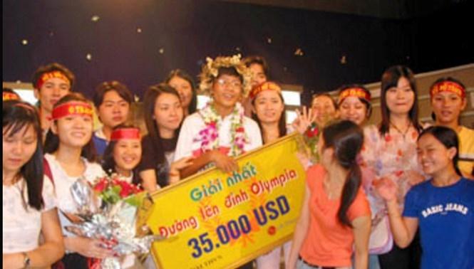 Lê Vũ Hoàng ngày đăng quang ngôi vô địch Đường lên đỉnh Olympia năm 2005 /// Ảnh tư liệu