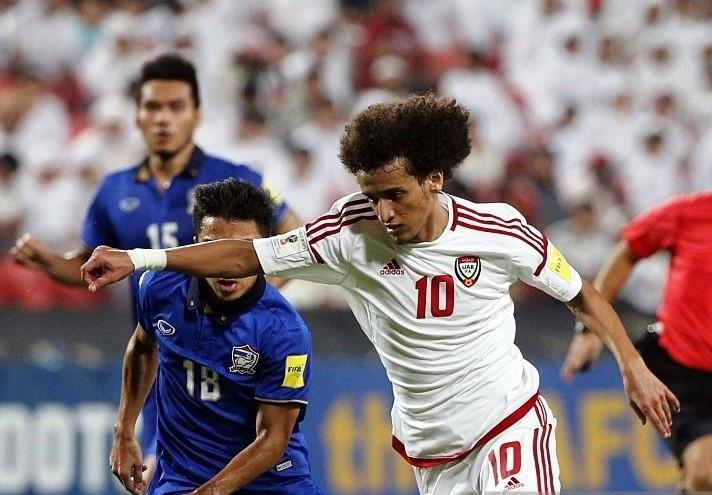 Omar có 2 pha kiến tạo giúp UAE đánh bại Thái Lan 3-1.