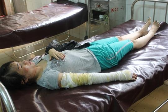Chị Huyền đang điều trị tại Bệnh viện Đa khoa tỉnh Đắk Lắk