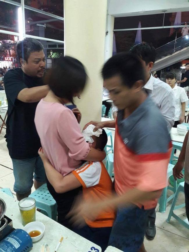 Hà Nội: Mâu thuẫn trên bàn nhậu, người đàn ông cầm bát nước nắm ném rách đầu bé trai 9 tuổi - Ảnh 1.