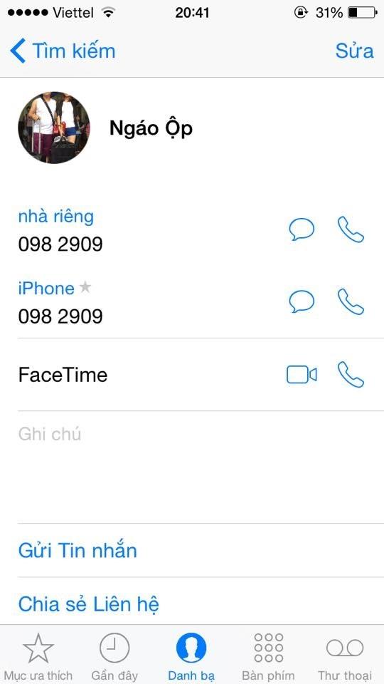 lưu tên chồng trong điện thoại