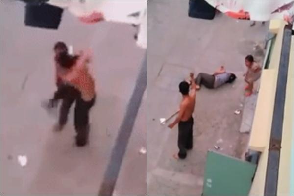 Bé gái hoảng loạn gào khóc chứng kiến cảnh bố cầm dao cứa cổ mẹ ngất xỉu - Ảnh 2.