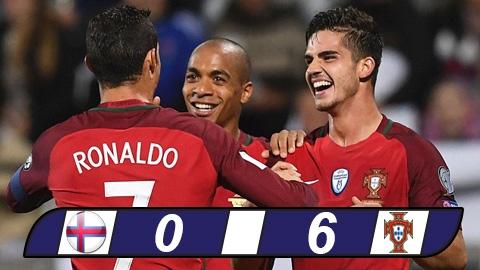 Andre Silva lập hat-trick, Bồ Đào Nha đánh tennis trước Đảo Faroe