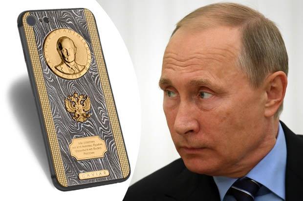 Tổng thống Nga Vladimir Putin, Vladimir Putin, sinh nhật Putin, quà tặng Putin, iPhone Putin