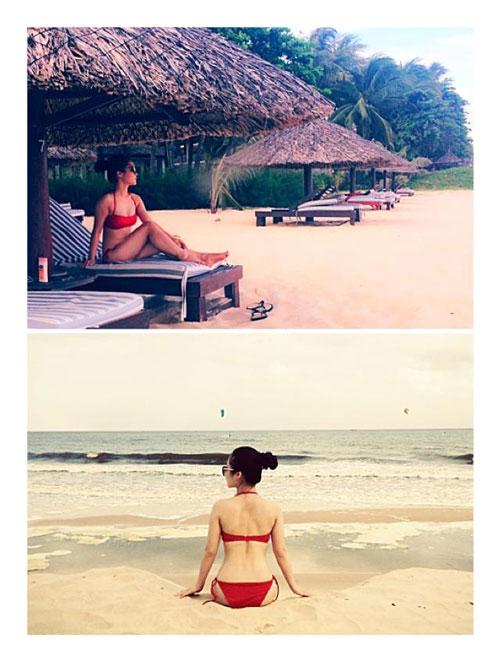 het mot khong noi y, huong tram lai khoe dang nuot voi bikini hinh anh 5