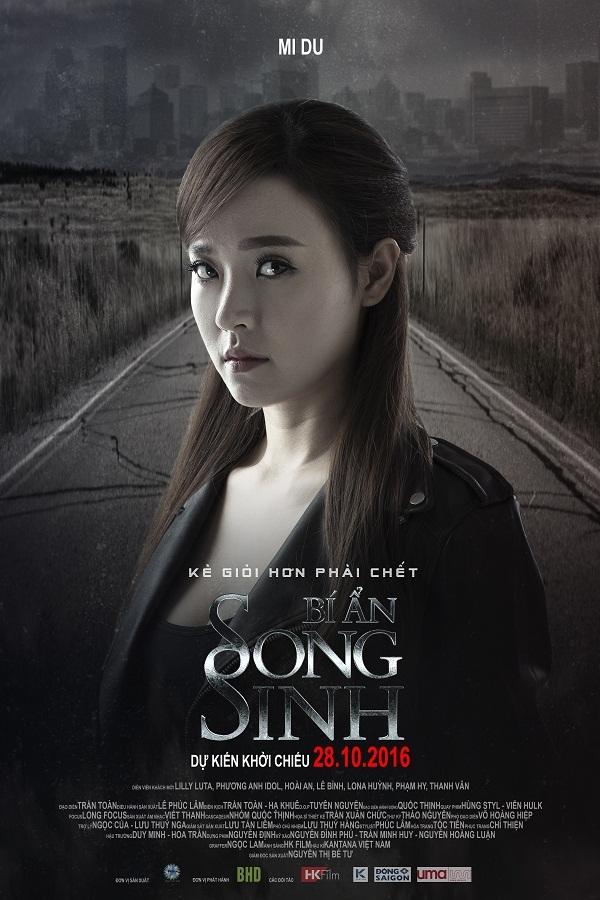 """Midu lạnh lùng, Elly Trần hoảng hốt trên poster """"Bí Ẩn Song Sinh"""" - Ảnh 1."""